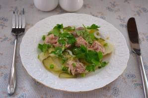 Салат из печени трески постный - фото шаг 9
