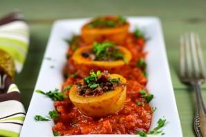 Картошка, фаршированная грибами, в духовке - фото шаг 4