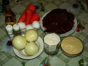 Печеночный пирог слоями - фото шаг 1
