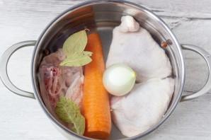 Аспик из курицы и овощей - фото шаг 2