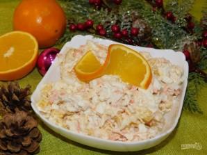 Новогодний салат с апельсинами - фото шаг 5