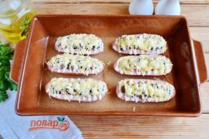 Сардельки, фаршированные сыром и грибами - фото шаг 8