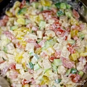 Салат с курицей и овощами - фото шаг 6