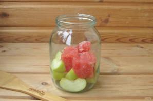 Компот из грейпфрута и яблок на зиму - фото шаг 6