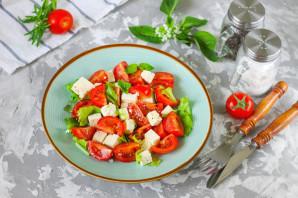 Салат с базиликом и помидорами - фото шаг 5