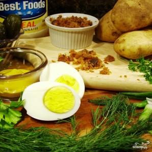 Картофельный салат с беконом - фото шаг 1