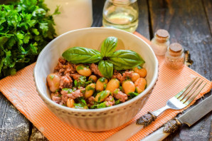 Фарш с фасолью в томатном соусе - фото шаг 7
