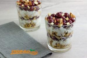 Творожный десерт с вишней - фото шаг 8