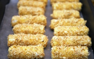 Жаренные сырные палочки Моцареллы - фото шаг 6