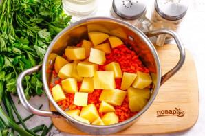 Суп с чечевицей и сосисками - фото шаг 3