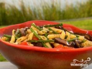 Грибной салат со спаржей - фото шаг 3