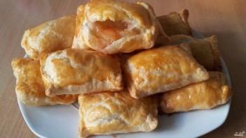 Пирожки с яблоками из слоеного теста  - фото шаг 4