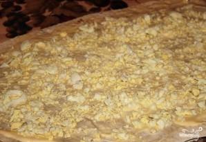 Лаваш с сайрой, яйцами и сыром - фото шаг 3