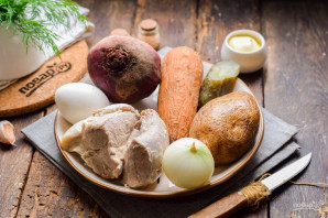 "Салат ""Мясо в тулупе"" - фото шаг 1"