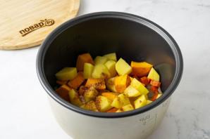 Суп пюре из тыквы в мультиварке - фото шаг 3