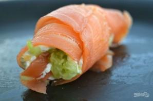 Рулет из лосося со сливочным сыром - фото шаг 5