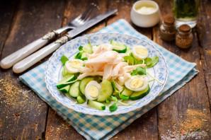 Салат с кальмарами и огурцом - фото шаг 6