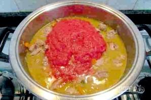 Телятина, тушенная с помидорами - фото шаг 7