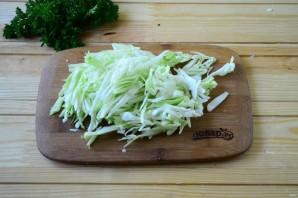 Салат из крапивы с яйцом и огурцом - фото шаг 4