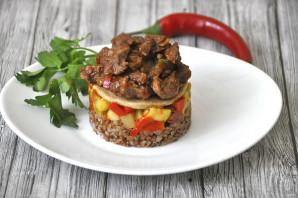 Мильфей с мясом, гречкой и овощами - фото шаг 23