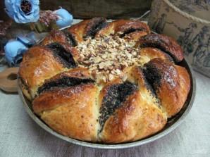 Дрожжевой пирог с шоколадной пастой маком и орехами - фото шаг 15