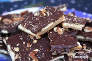 Крекеры с шоколадом и орехами - фото шаг 7