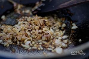 Карри с рисом, горошком и грибами - фото шаг 5
