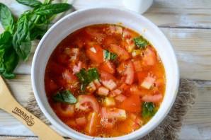 Томатный суп из печки с базиликом - фото шаг 7