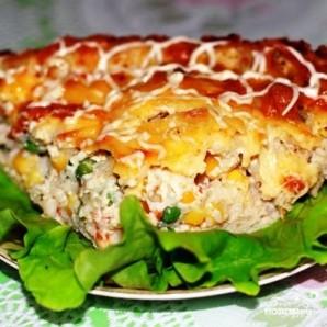 Куриный пирог с гавайской смесью - фото шаг 10