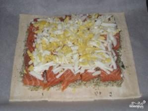 Пирог с семгой и рисом - фото шаг 3