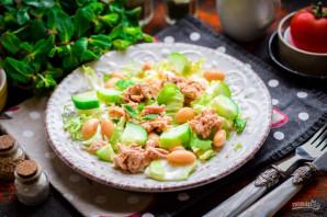 Салат с тунцом и белой фасолью - фото шаг 7