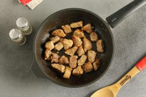 Лапша с грибами и мясом - фото шаг 3