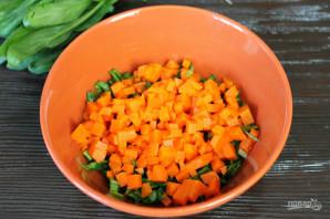 Салат с печенью, морковью и горошком - фото шаг 3