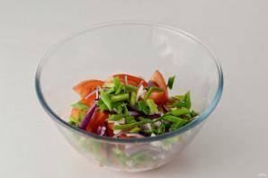 Салат с кориандром - фото шаг 3