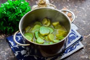 Салат из огурцов с горчицей и маслом на зиму - фото шаг 6