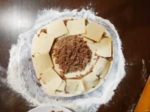 "Пирог ""Подсолнух"" с мясом - фото шаг 8"