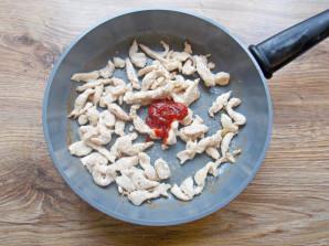 Кесадилья с курицей и кукурузой - фото шаг 9