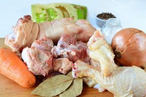 Холодец из говядины, свинины и курицы - фото шаг 1