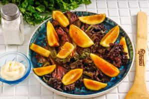 Салат с инжиром и моцареллой - фото шаг 3