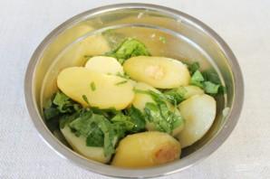 Картофель в рукаве с заправкой из чеснока и шпината - фото шаг 6