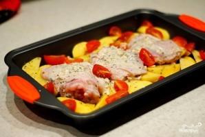Маринованная в кефире курица с картофелем - фото шаг 6