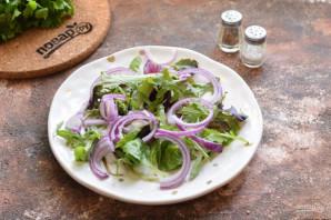 Салат из гребешков с рукколой - фото шаг 4