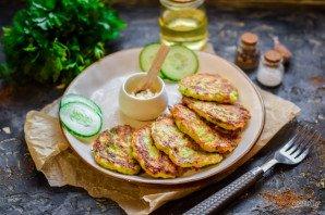 Оладьи из кабачков и колбасы - фото шаг 8