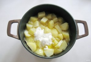 Курица с картофелем в сметане - фото шаг 7