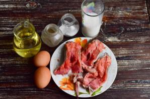 Горбуша в омлете в духовке - фото шаг 1