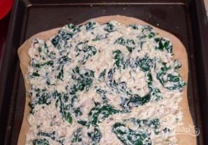Тонкая пицца со шпинатом и сыром - фото шаг 6