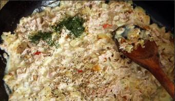 Паста с тунцом в сливочном соусе - фото шаг 2
