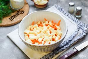 Куриный салат с морковью - фото шаг 3