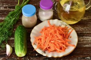 Салат с корейской морковкой и огурцом - фото шаг 1