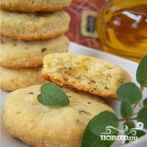 Сырное печенье с базиликом - фото шаг 5